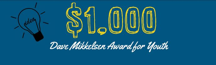 Apply now for the Dave Mikkelsen Award for Youth