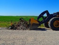 Illegal dumping on Township Road 240