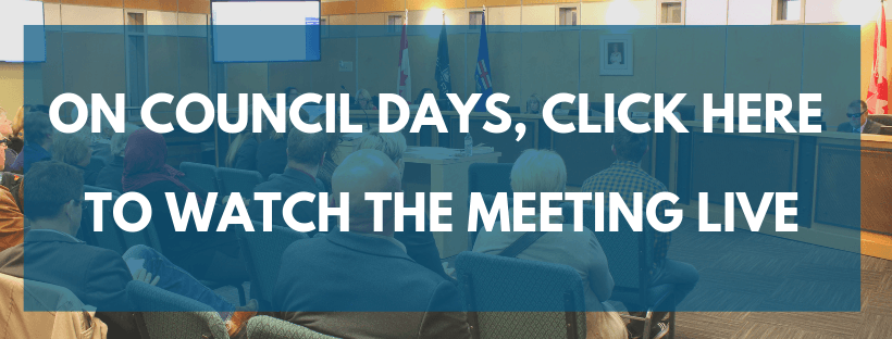 Watch Council Meetings homepage button