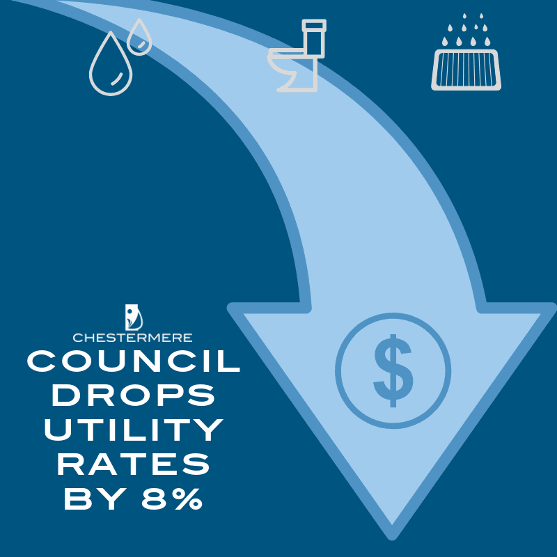 utility rate drop