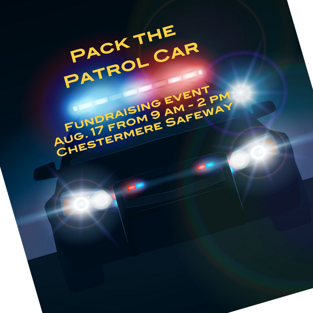 Join Peace officers for Pack the Patrol Car, Aug 17