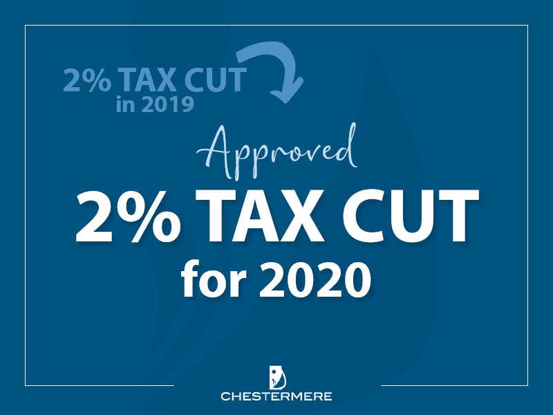 Tax Cut Graphic