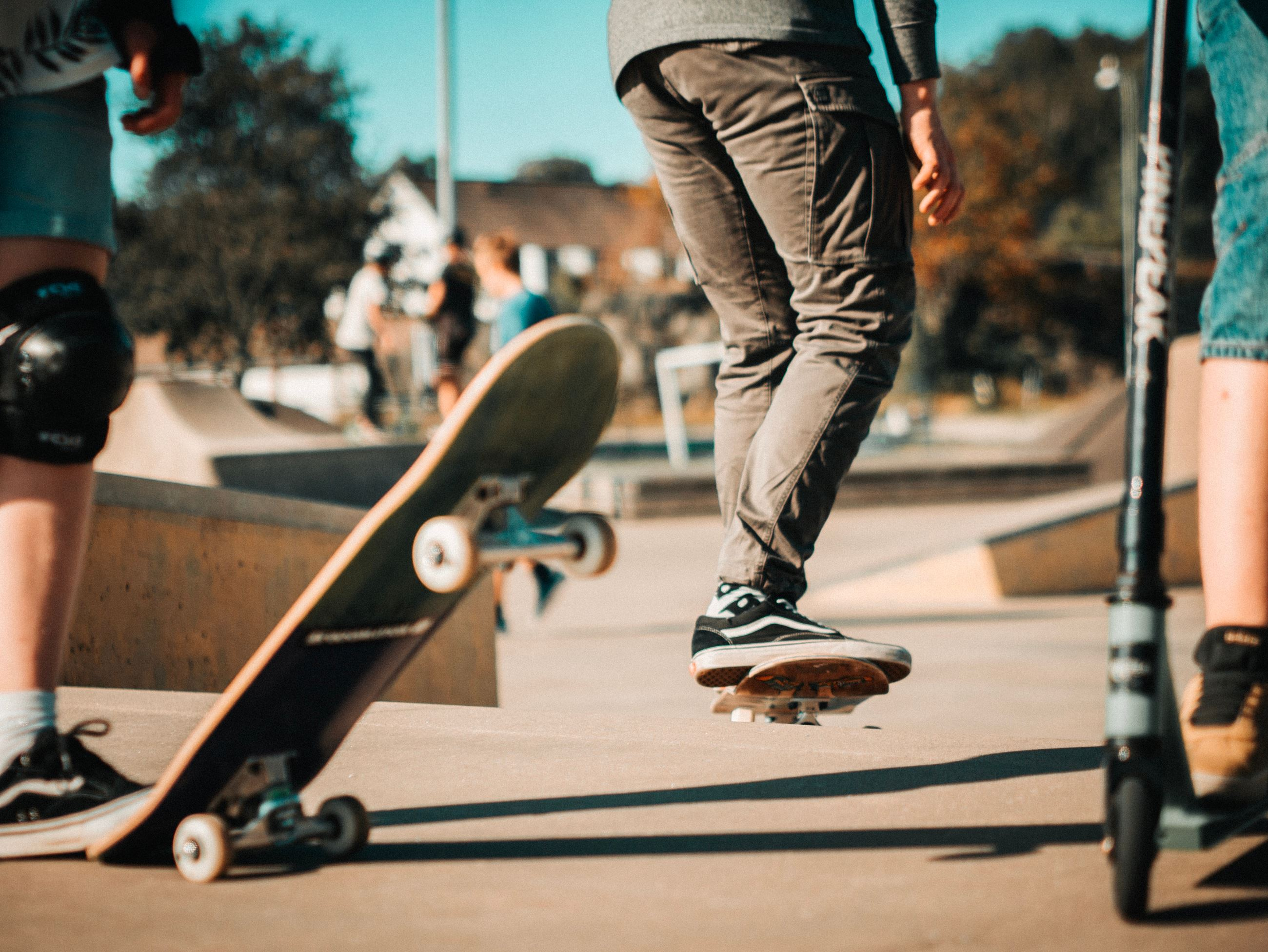 Canva - Selective Focus Photography of Person Doing Skateboard Stunts