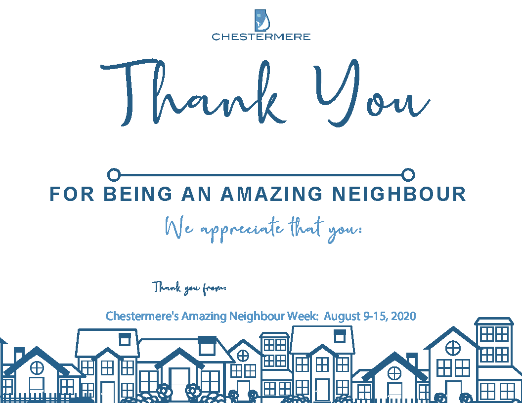 Amazing Neighbour Week Certificate Colouring Page
