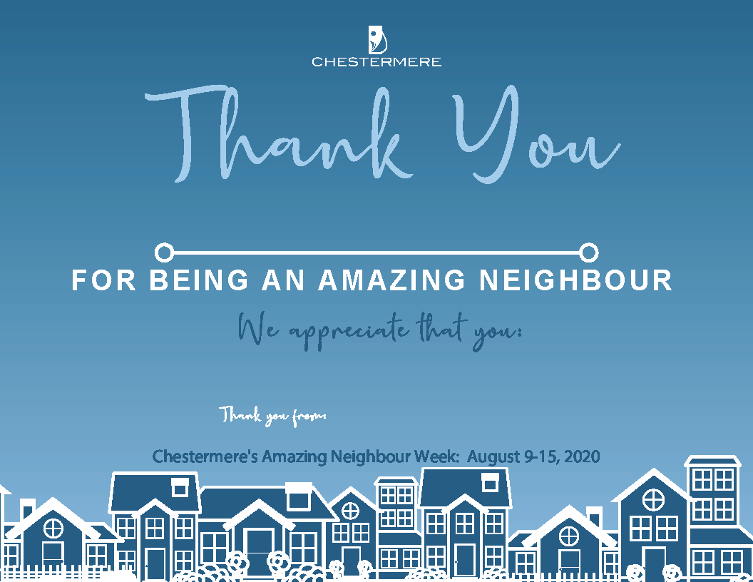 Amazing Neighbour Week Certificate