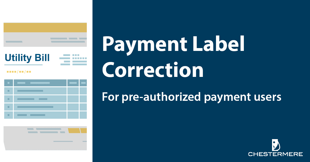 preauth payment label adjustment