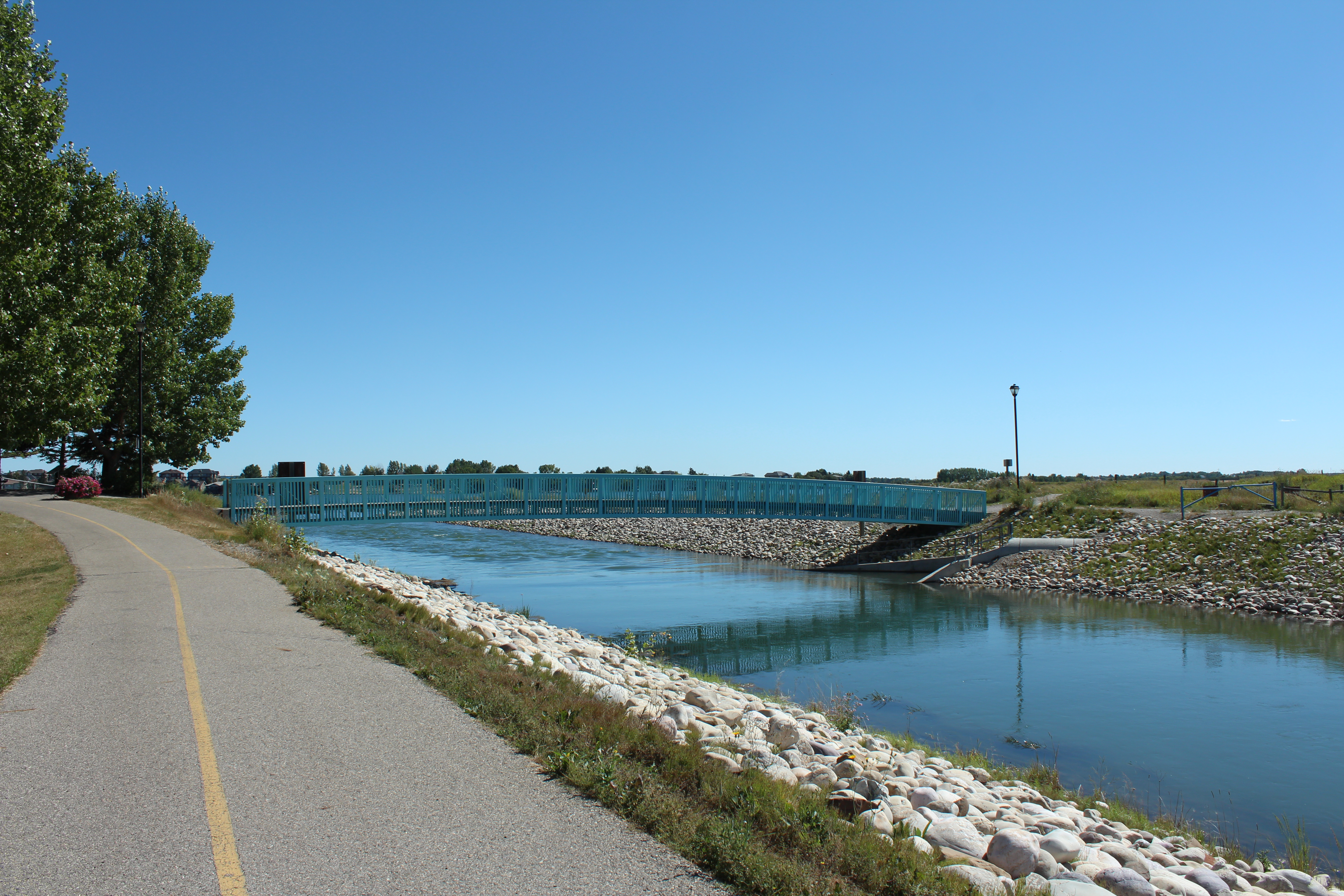 Canal at South End of Chestermere Lake