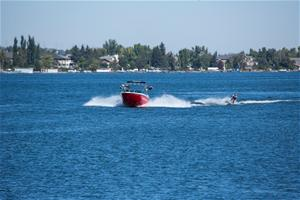 Boating on Chestermere Lake