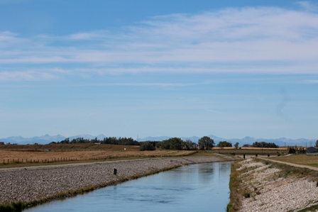 Irrigation Canal to Chestermere Lake