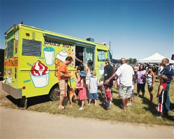 Ice Cream Truck at  Water Festival
